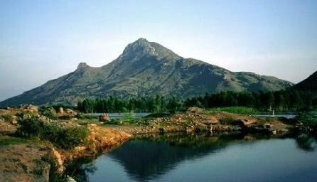 Arunachala Mountain in Tamil Nadu, India